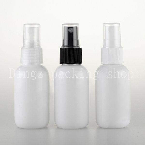 50ml Weiß Sprühpumpe Reise PET-Flasche für kosmetische Verpackungen, 1,7 Unzen Kunststoff leere Flaschen für flüssige Medizin 50pc / lot