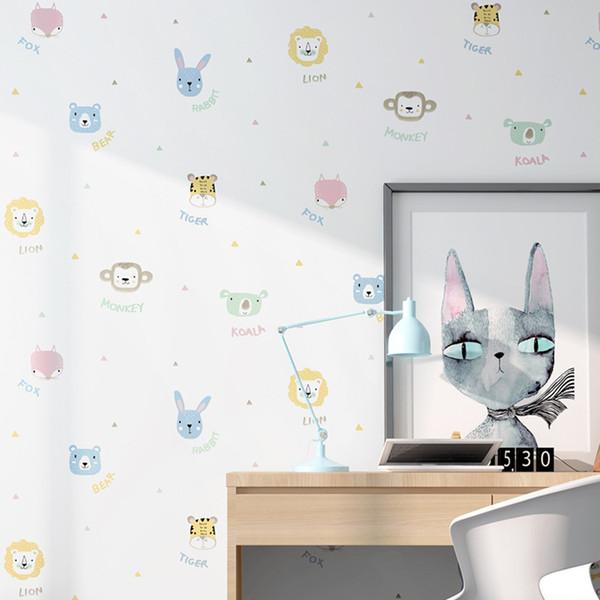 53cm width 10 meters long Cartoon cartoon children's room decoration background stickers bedroom dormitory wall decoration wallpaper
