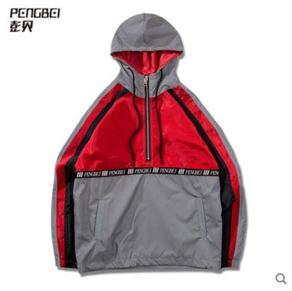 Splice 3M sudadera con capucha reflectante chaqueta super caliente de moda con capucha de hip hop estadounidense