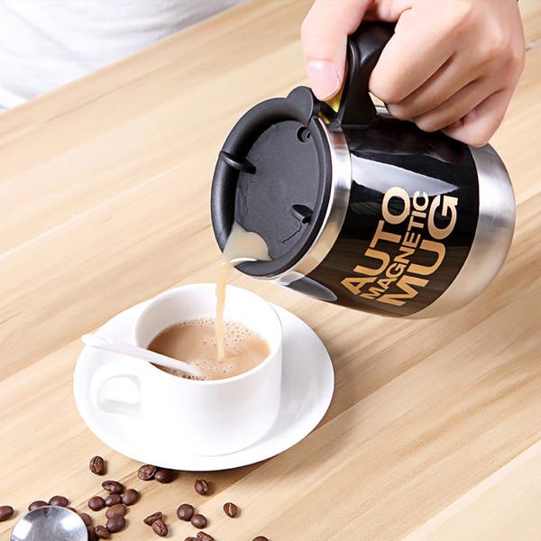 400/450 ML Auto Tazza Magnetica Caffè Latte Mix Tazze In Acciaio Inox Creativo Automatico Tazze di Miscelazione Home Office Drinkware 2 Pezzi ePacket