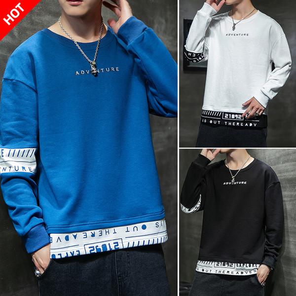 mens maglioni progettista 2019 autunno nuova giovinezza casuale sottile stile coreano pullover girocollo a maniche lunghe T-shirt bottoming mens hoodies
