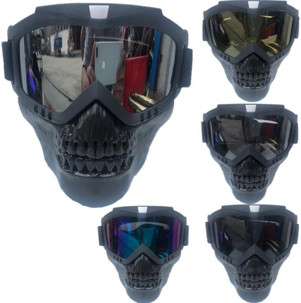 Detachable Harley retro locomotive mask goggles off-road motorcycle racing goggles outdoor riding glasses ski goggles