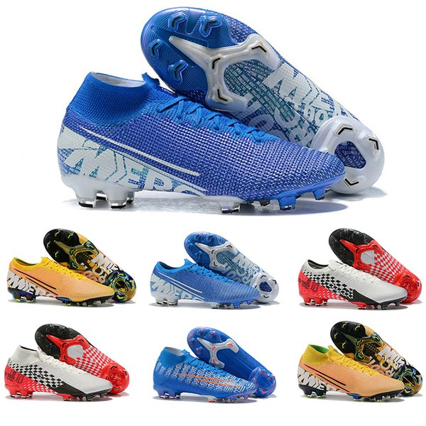 Mercurial Vapors Fury XIII Elite FG 2019 Football Shoes Flexible 360 Superfly VI Indoor Soccer Cleats Boots