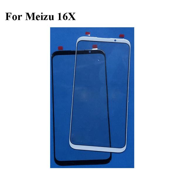 Per Mei zu 16X 16 X Meizu16X Frontale LCD touchscreen in vetro da 6,0 '' pollici Touch Screen Schermo esterno in vetro senza flex