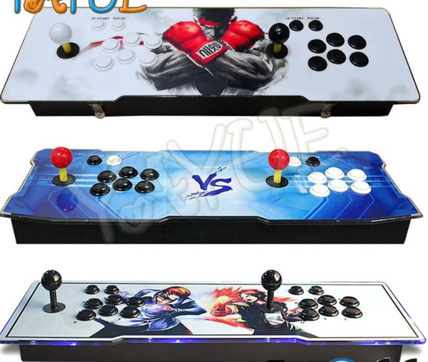 2018 [1500 HD] Arcade Video Oyun Konsolu Retro Oyunları Artı Hoparlör Makinesi Ile Arcade Makinesi Çift Çarşı Joystick Soğutma Fanı Sıcak satış