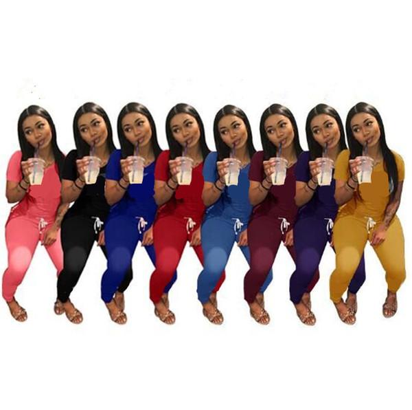 Lettre Imprimer Femmes Survêtement Marque Designer T Shirt Tops + Pantalons Leggings 2 Piece Set À Manches Courtes T-shirt Tenues Tailleur Printemps Vêtements