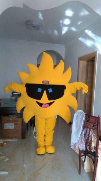 Halloween Sonne Sonnenschein Maskottchen Kostüm Cartoon Sunflower Anime Thema Charakter Weihnachten Karneval Party Phantasie Kostüme Erwachsenen Outfit