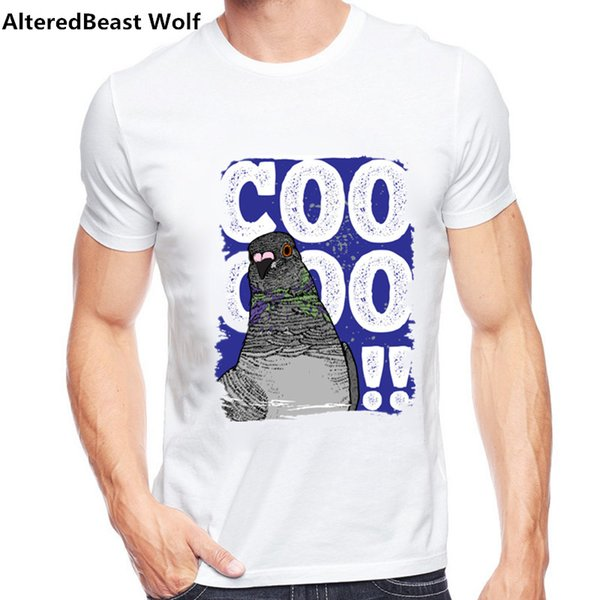 Güvercin Tasarımları Erkek T-shirt Slim Fit Ekip Boyun T-shirt Erkekler Kısa Kollu Gömlek Casual tişört Tee Tops 2017 Kısa Gömlek Artı Boyutu