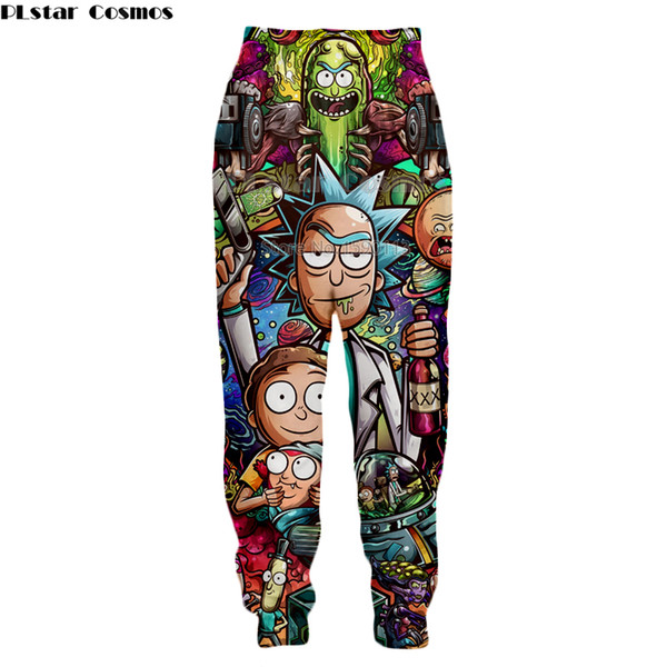 Yx Girl Casual Unisex Rick And Morty Mens Summer Casual Shorts Cartoon 3d Print Loose Shorts Men's Clothing