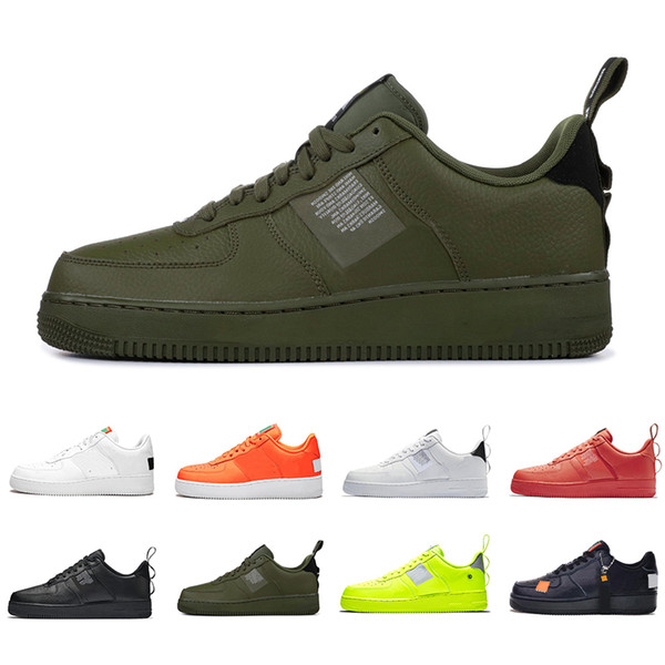 Compre NIKE Air Force 1 Utility Classic Black White Dunk Men Women Outdoor Sneakers Red One Sports Skateboarding High Low Cut Wheat Trainers Shoes 36