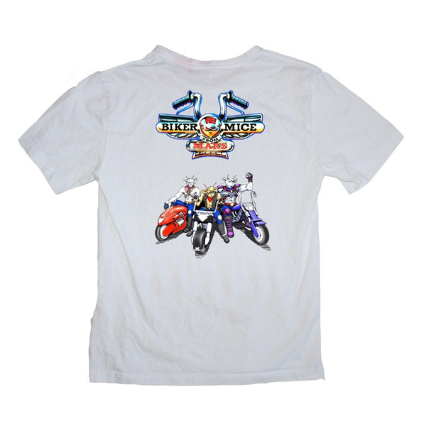 Biker Mice from Mars TV show motor bike 90's Cartoon Shirt S-XXXL colour print Mens Hipster Short Sleeve Tee Tops Men Lastest
