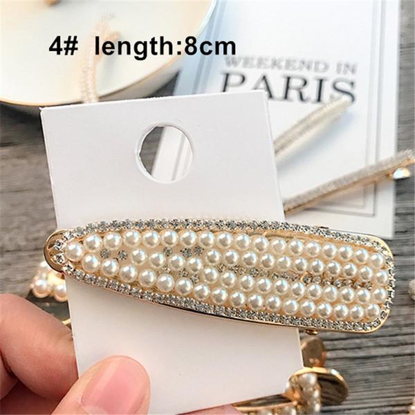 13 Modedesigner Perlen Diamant Bobby Pin Elegante Koreanische Mädchen Beliebte Haarspangen Professionelle Haarschmuck