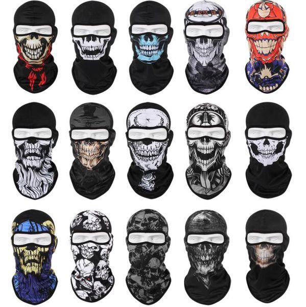 Тактические маски черепа Airsoft череп анфас защитить маски зимой ветрозащитной теплый призрак скелет капот шарф велосипедные верхом лыжные камуфляжные маски