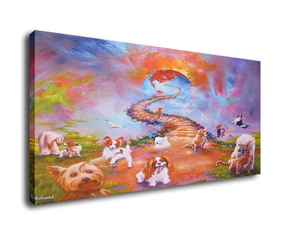 Jim Warren Abstract Art All Dogs Go To Heaven,Oil Painting Reproduction High Quality Giclee Print on Canvas Modern Home Art Decor