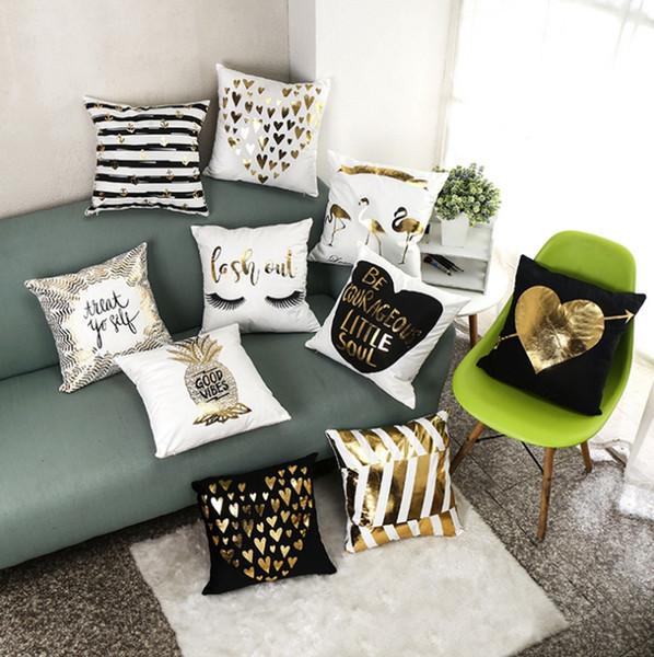 Fabulous Cushion Covers Bronzing Throw Pillows Cover Soft Velvet Decorative Pillowcase Waist Pillowslip Office Car Home Decor 22 Designs Yw2541 Seat Cushions Pdpeps Interior Chair Design Pdpepsorg