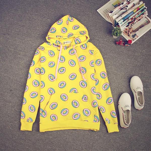SICAK! Kpop GOT7 Sadece Sağ Işareti Bts Jung Kook Sevimli Donut Hoodies adam kadın unixes tişörtü için Unisex Hoodie Kazak