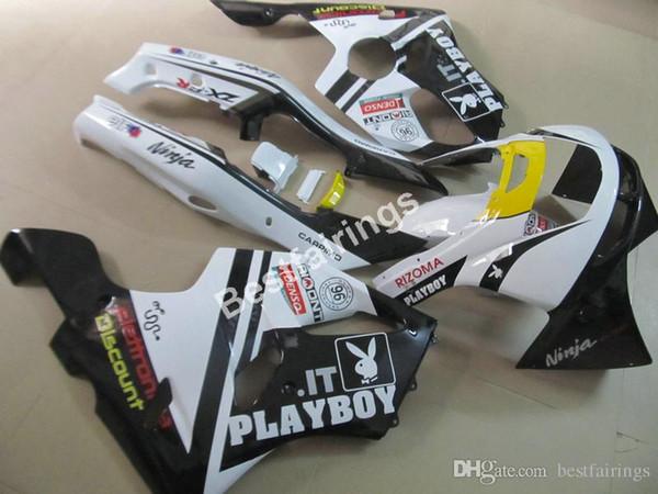 Kit de carenado para Kawasaki Ninja ZX6R 1994 1995 1996 1997 carenados negro blanco set ZX6R 94 95 96 97 MT09