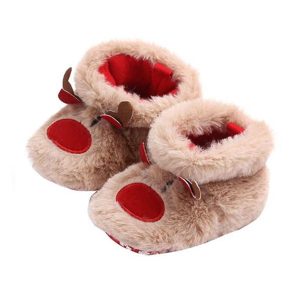 2019 Baby Boots Shoes Christmas Baby Girls Boys Snow Boots Cute Warm Plush Infant Toddler Shoes cute