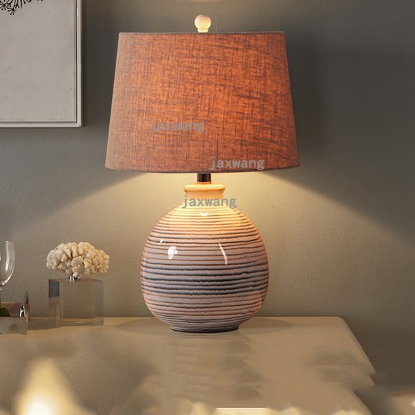 2019 New Chinese Modern Ceramic Table Lamp Bedroom Bedside Led Desk Lamp  Warm Marriage Dimming Remote Control Living Room Table From Grege, $215.64    ...