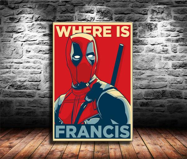 Deadpool New Superhero, 1 Peças Cópias Da Lona Arte Da Parede Pintura A Óleo Home Decor (Sem Moldura / Emoldurado) 24X36.