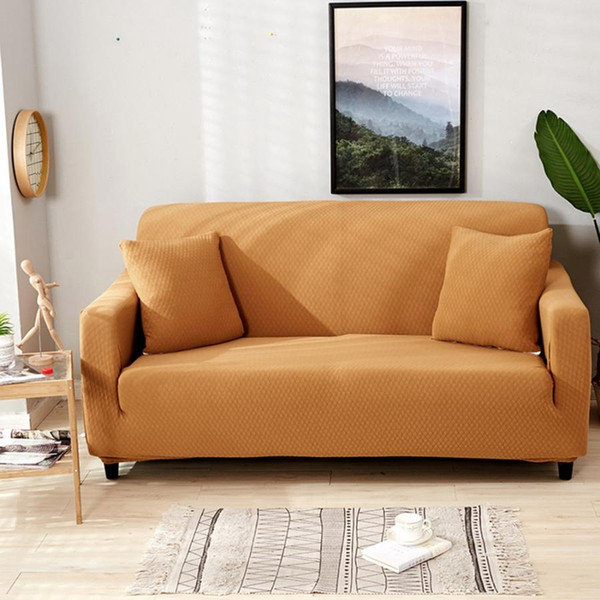 New Waterproof Elastic Dustproof Slipcover Sofa Cover Protector Sofa Couch  Cover Towel 1/2/3/4 Seater Furniture Protector Slipcovers For Recliner Sofa  ...