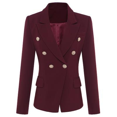 Großhandel Seamyla 2019 Frauen Mantel Mode Gold Knöpfe Zweireiher Runway Coat Langarm Elegant Purpurrot Ourterwear Mäntel J1 Von Xcq0318, $64.65 Auf