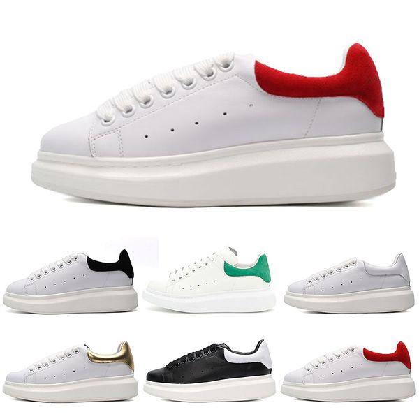 Alexander MCQueen  Erkekler Kadınlar Için Ayakkabı Koşu, Beyaz Siyah Sneakers Üçlü Çalışır Atletik huraches Spor Ayakkabı