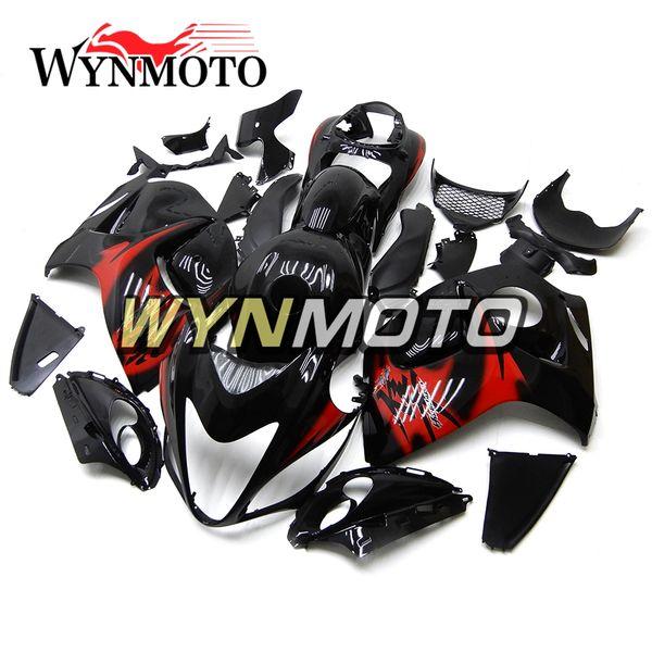 Hayabusa motocicleta carenados negro rojo para Suzuki GSXR1300 2008 2009 2010 2011 2012 2013 2014 2015 2015 2016 Motobike Covers Cascos conjunto completo