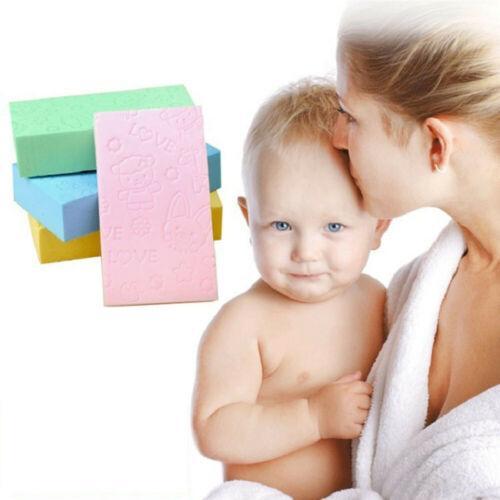1X Bebek Çocuk Duş Banyo Rub Çamur Sünger Yumuşak yıkanırlardı Temizlik Fırça Köpük Bloğu Yeni