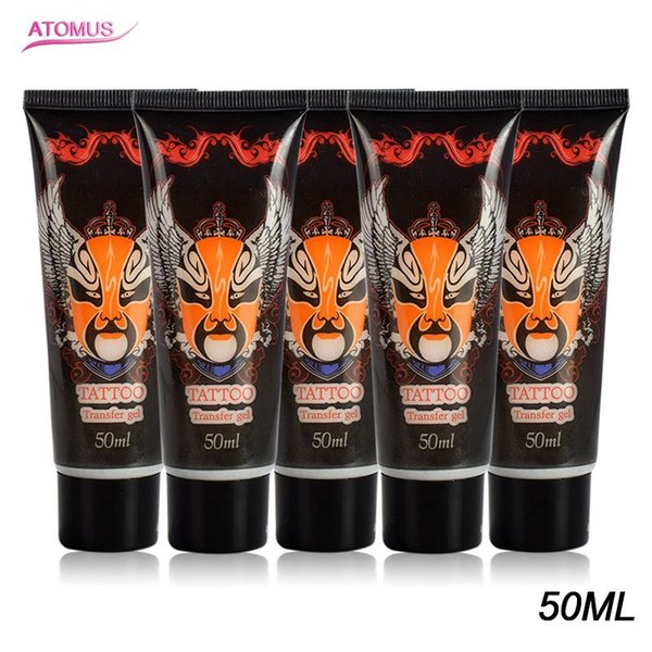 5pcs 50ml Tattoo Transfer Cream Gel Body Paint Stencil Stuff Oils For Transfer Paper Machine Auxiliary Products Supply Tattooist