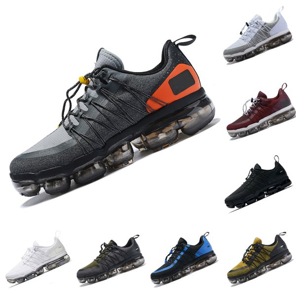 2019 Run Utility Men Running Shoes Black White Dark Grey Gold Blue Wine Red Mens Designer Trainers Sports Sneakers Fashion Shoe Size 40-45