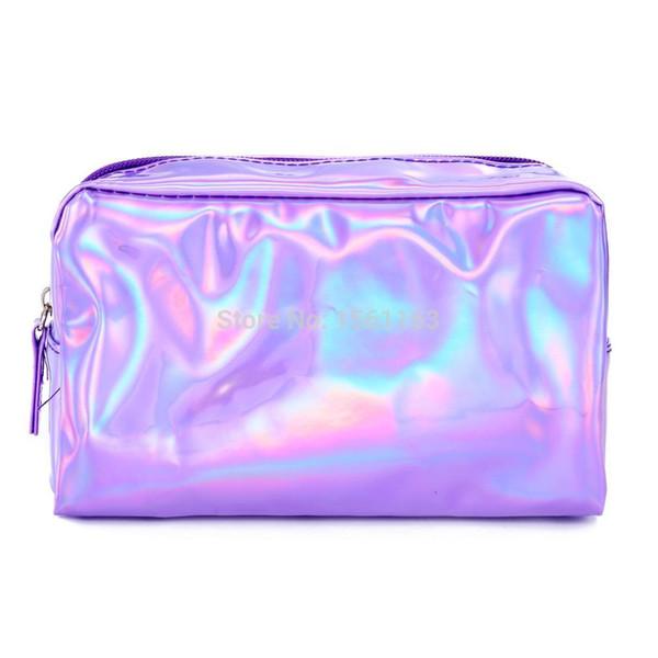 Women Fashion Cosmetic Bag Letter laser Makeup Bag Zipper Make Up Handbag Organizer Storage Case Pouch Toiletry Wash Beauty Box