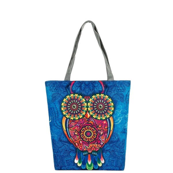 Cheap OCARDIAN Shoulder bag tote bag Handbags women's Floral And Owl Printed Casual Female Shopping Bags Drop shipping CSV A1124#30