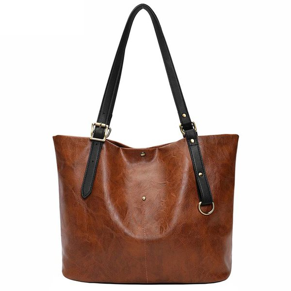 good quality Brand Handbag Women Large Capacity Shoulder Bag Female High Quality Pu Leather Tote Bag Top-handle Messenger Bags