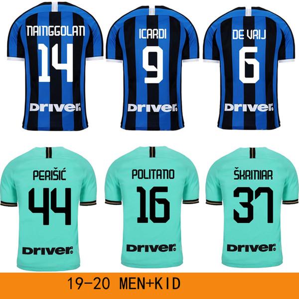 best cheap 2005c 8ee1c 2019 2019 PERISIC SKRINIAR Inter Milan LUKAKU LAUTARO Soccer Jersey 19 20  GODÍN DE VRIJ Football Shirt Uniforms Maglia Men + Kids Kit 2020 From ...