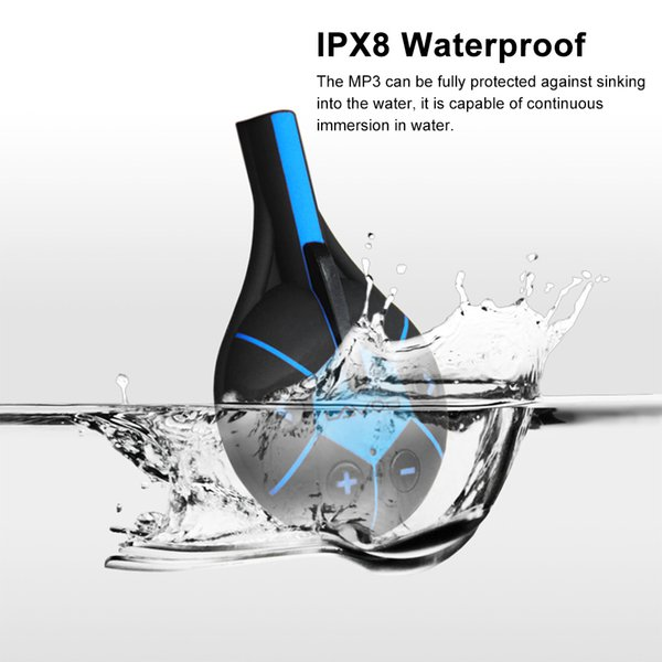 Sports earphone IPX8 Waterproof MP3 Music Player 8GB with Clip Design earphone for Swimming Running Diving drop shipping #s0