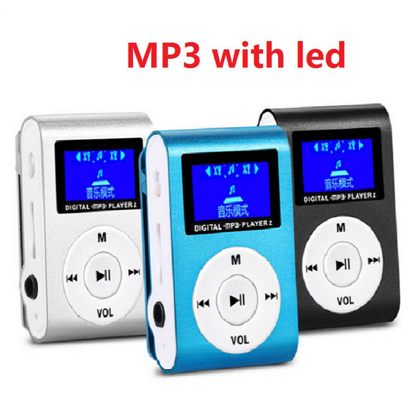 best selling Hot marking Mini USB Clip MP3 Player LCD Screen Support 32GB Micro SD TF Card Digital Music Mp3 Players Come with Earphone USB Cable