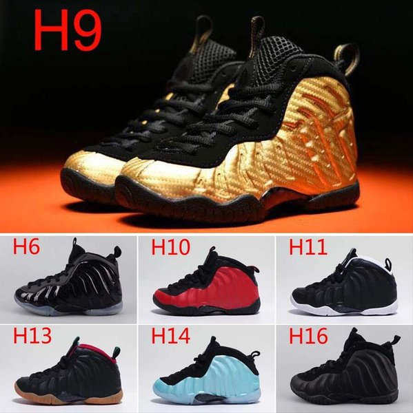 quite nice fd43d 5bfda Youth Pro Metallic Gold Dr Doom Royal Kids Island Green Basketball Shoes  Girl Boy Foamposites Sports Trainers Shoes Sport Sneakers 11C 3Y Sports ...