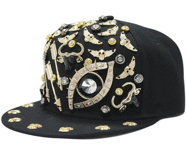 Custom Flat Baseball Cap Outlet diamond rivet Hip Hop Hats Designer Snapbacks buy Cool caps snapback hats custom made top selling snapbacks