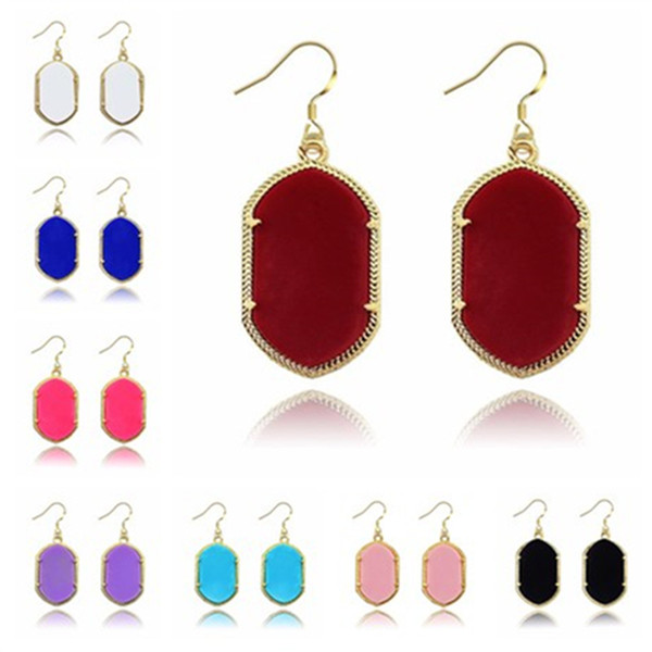 best selling Fashion Kendra Style Smooth Surface Gold Dangle Earrings Signature Earrings For Women Wedding Party Jewelry Drop Shipping