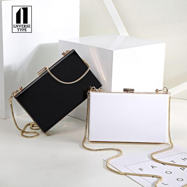 2019 Women Evening Party Bags Fashion Black White Shoulder Cross Body Bag Ladies Day Clutch Dinner Purse Girls Wedding Bride Bag Y19061301