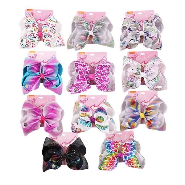 INS jojo Siwa biws pinzas para el cabello niñas jojo niños Siwa trabajo hecho a mano bebé BB niños de diseño clip de accesorios para el cabello A9673