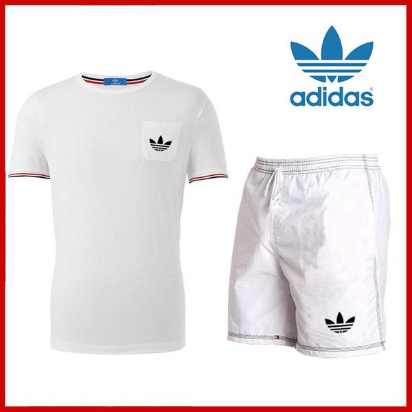 Acquista Estate Uomo Set T Shirt A Maniche Corte T Shirt A Due Pezzi + Pantaloncini Completo Completo Sportivo Completo Da Uomo Completo Da Uomo Tuta