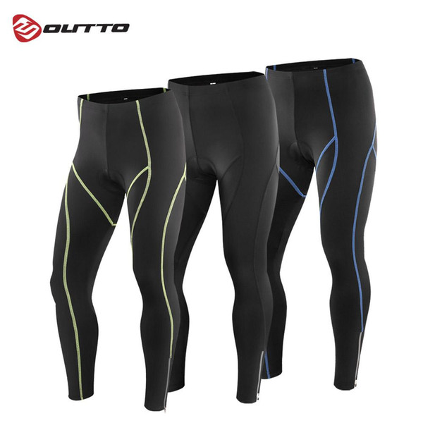 best selling Outto Men's 3D Gel Padded Compression Cycling Long Pants Full Length Breathable Road Bike Riding Bicycle Tights
