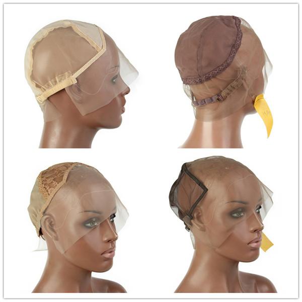 Glueless Full Lace Cap Perruque 13X6 avant de lacet Net Cap perruque tissage de chapeaux L / M / S Chapeaux de perruque pour faire des perruques réglable