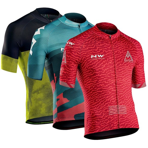 top popular 2020 Men's Short Sleeve Cycling Jerseys NW North Wave Cycling Short Sleeve Jerseys Jeresy Clothing 2020