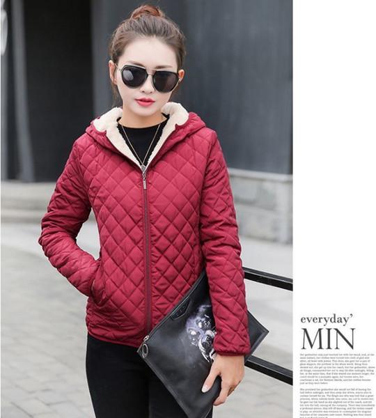 New Winter Parks Jacket Women For Women Winter Velvet Lamb Coat Hooded Winter Coat Cotton Women's Outerwear Coat