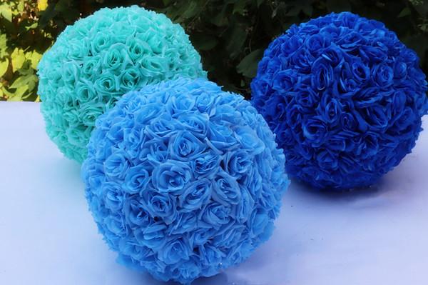 Wedding Rose Ball Artificial Flower Ball 6 Inch 8 Inch for Wedding Garden Market Decoration Fake Silk Hanging Flower Ball
