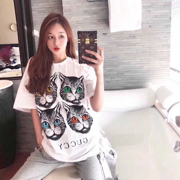 Men Women Designer T Shirt New Arrival Fashion Luxury Cat T Shirts Brand Men Women Casual Tees Hot Sell Unisex Cat Tees