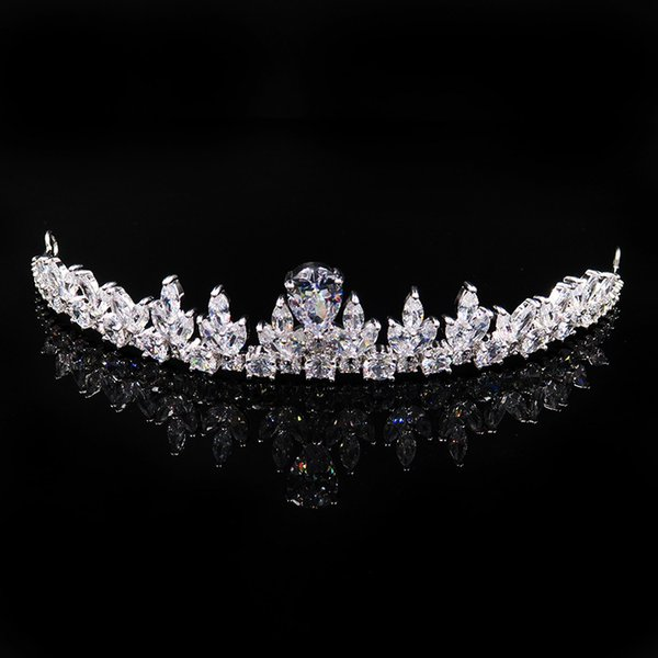2019 New Rhinestone Crystal Wedding Party Prom Homecoming Crowns Band Princess Bridal Tiaras Hair Accessories Fashion Custom Made